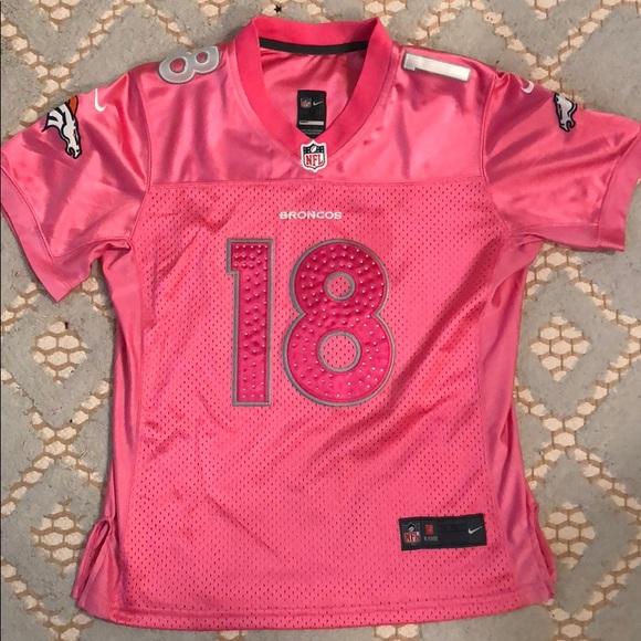 pink peyton manning broncos jersey